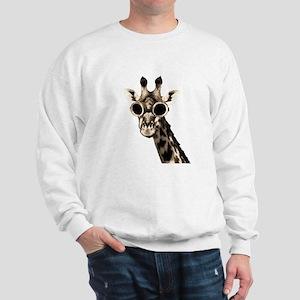 Giraffe With Steampunk Sunglasses Goggles Sweatshi