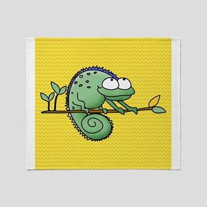 Funny Chameleon Throw Blanket