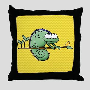 Funny Chameleon Throw Pillow