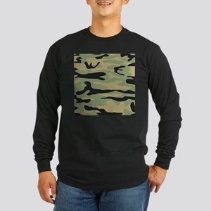 Green Army Camo Long Sleeve T-Shirt
