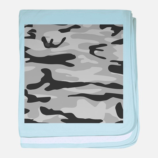 Grey Army Camo baby blanket