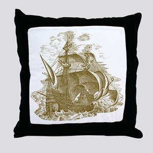 Man of War Throw Pillow