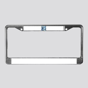 Light Blue Army Camo License Plate Frame