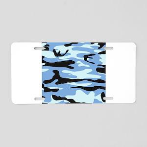 Light Blue Army Camo Aluminum License Plate