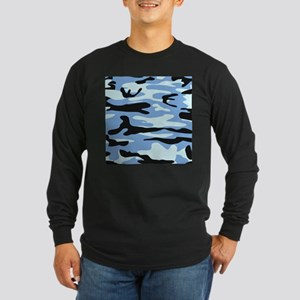 Light Blue Army Camo Long Sleeve T-Shirt