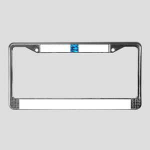 Bright Blue Army Camo License Plate Frame