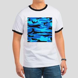 Bright Blue Army Camo T-Shirt