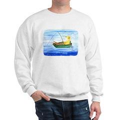 Yellow Labrador Fishing Dog Sweatshirt