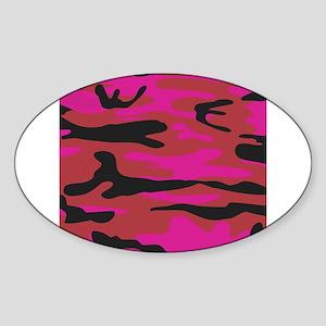 Hot pink army camo Sticker