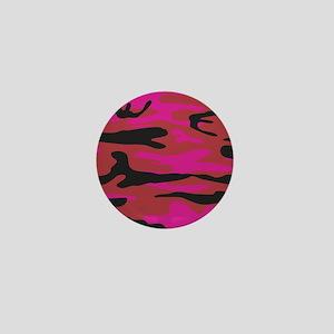 Hot pink army camo Mini Button
