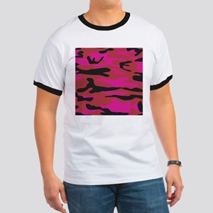 Hot pink army camo T-Shirt