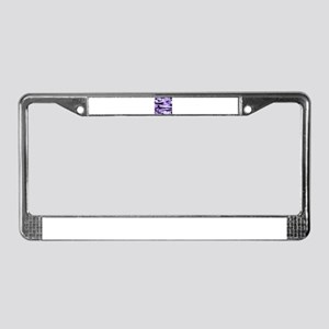 Lilac Purple army camo License Plate Frame