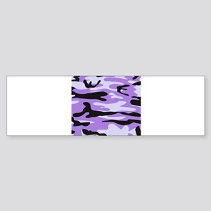 Lilac Purple army camo Bumper Sticker