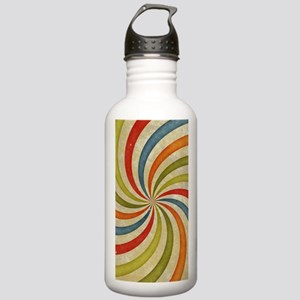 Psychedelic Retro Swirl Water Bottle