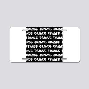 France typography Aluminum License Plate