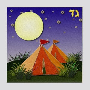 12 tribes Israel Gad Tile Coaster