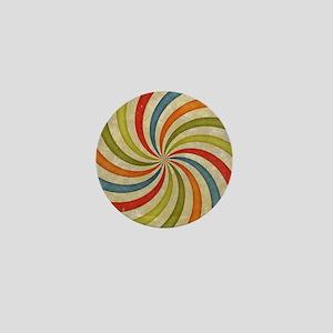 Psychedelic Retro Swirl Mini Button