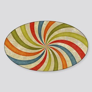 Psychedelic Retro Swirl Sticker