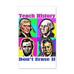 Let's Teach History 35x21 Wall Decal