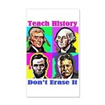 Let's Teach History 20x12 Wall Decal