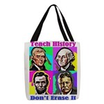 Let's Teach History Polyester Tote Bag