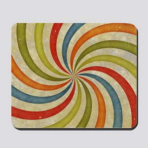 Psychedelic Retro Swirl Mousepad