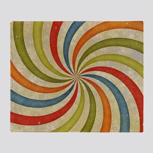 Psychedelic Retro Swirl Throw Blanket