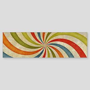 Psychedelic Retro Swirl Bumper Sticker