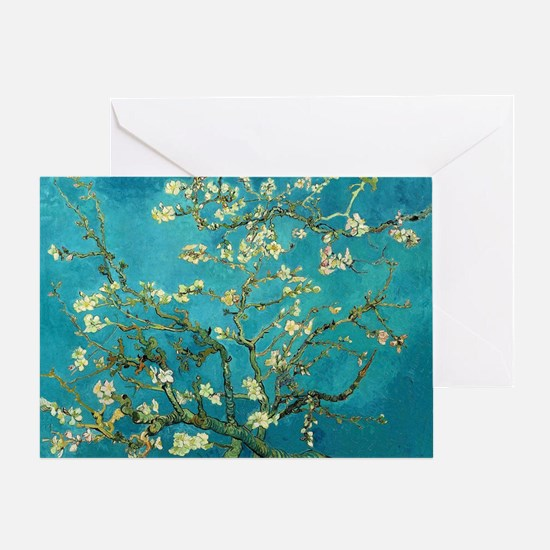 Vincent Van Gogh Blossoming Almond T Greeting Card