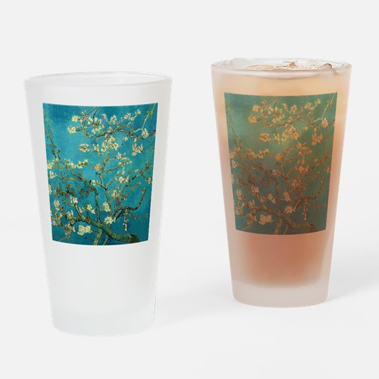 Vincent Van Gogh Blossoming Almond  Drinking Glass