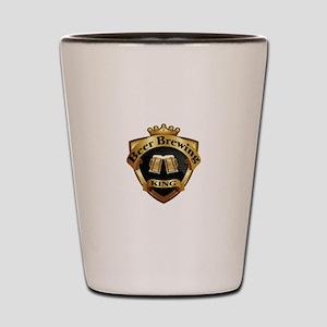 Golden Beer Brewing King Crown Crest Shot Glass