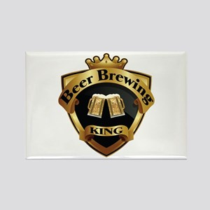 Golden Beer Brewing King Crown Crest Rectangle Mag