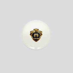 Golden Beer Brewing King Crown Crest Mini Button