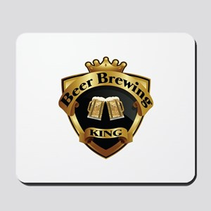 Golden Beer Brewing King Crown Crest Mousepad