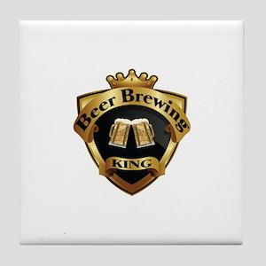 Golden Beer Brewing King Crown Crest Tile Coaster