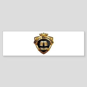 Golden Beer Brewing King Crown Crest Sticker (Bump
