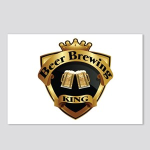 Golden Beer Brewing King Crown Crest Postcards (Pa