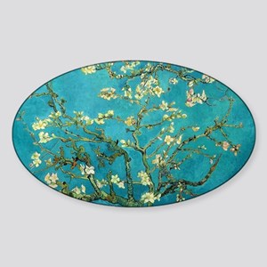 Vincent Van Gogh Blossoming Almond  Sticker (Oval)