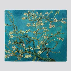 Vincent Van Gogh Blossoming Almond T Throw Blanket