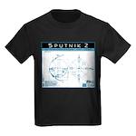 SPUTNIK 2 Blueprints Kids Dark T-Shirt