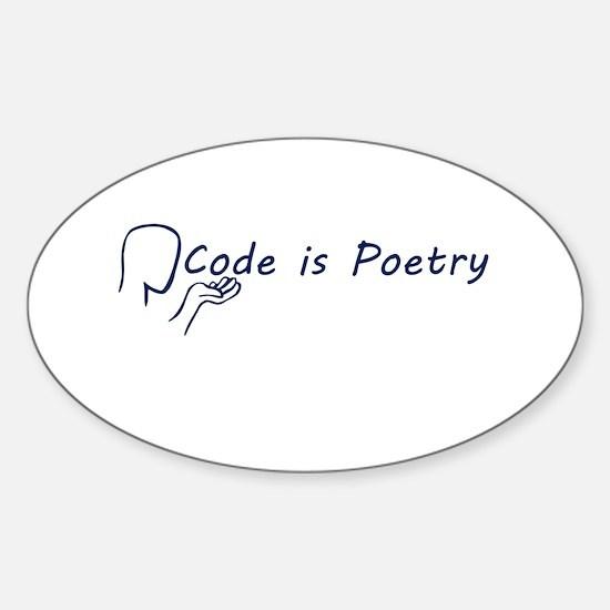 Code is Poetry Blue Decal