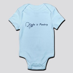 Code is Poetry Blue Body Suit