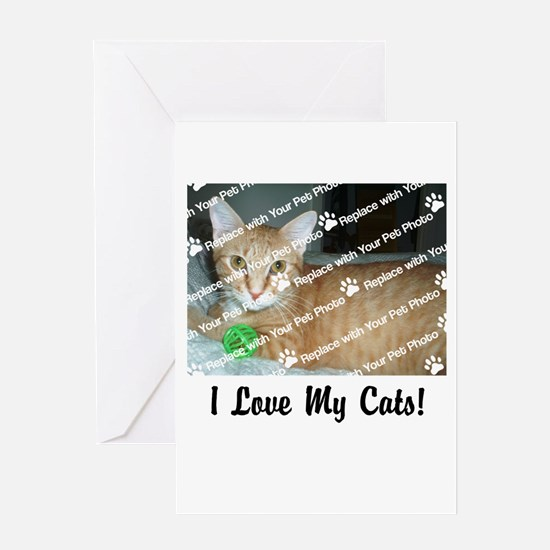 CUSTOMIZE Add Photo Love CatS Greeting Cards
