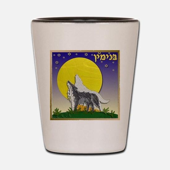 12 Tribes Israel Benjamin Shot Glass