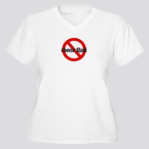 Anti Cheese Steak Women's Plus Size V-Neck T-Shirt
