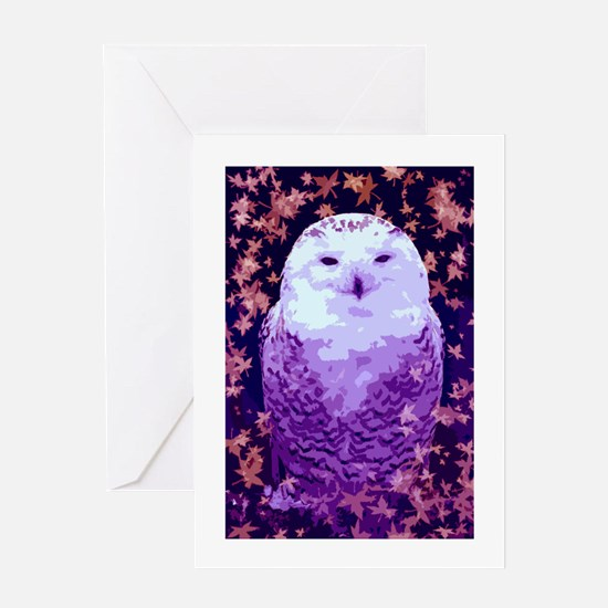 Autumn Owl Greeting Cards