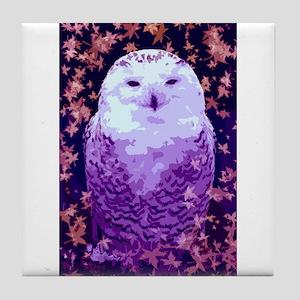 Autumn Owl Tile Coaster
