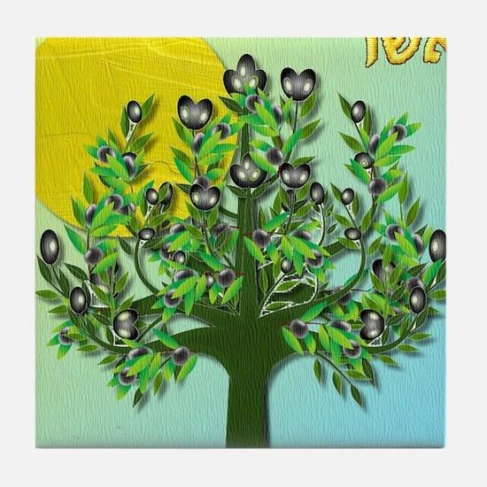 12 Tribes Israel Asher Tile Coaster