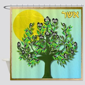12 Tribes Israel Asher Shower Curtain