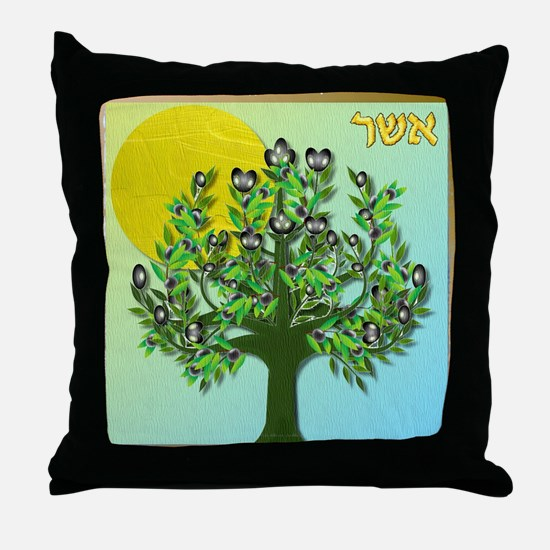 12 Tribes Israel Asher Throw Pillow